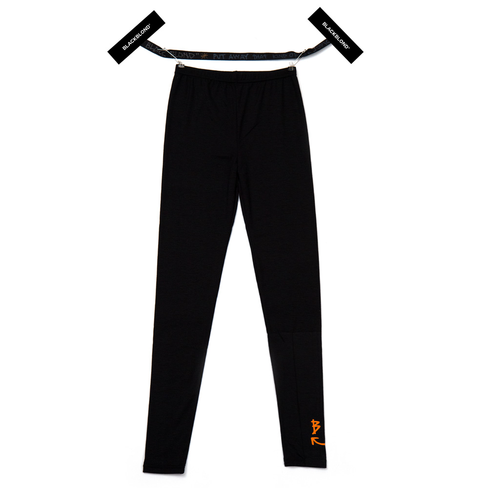 BBD Smile Logo Leggings (Black/Neon Orange)