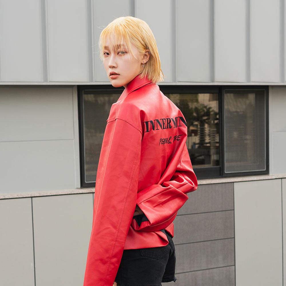 [김동한 뮤직비디오 착용]INNER MIND_Leather JK_RED