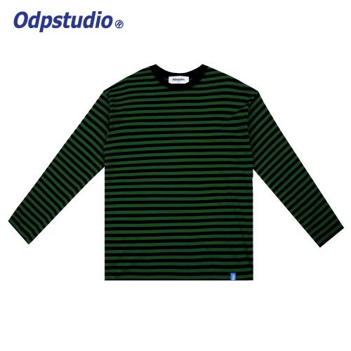 Stripe Long Sleeve T-shirts Green