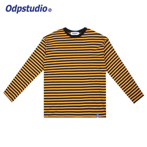 Stripe Long Sleeve T-shirts Yellow