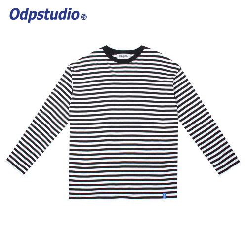 Stripe Long Sleeve T-shirts White
