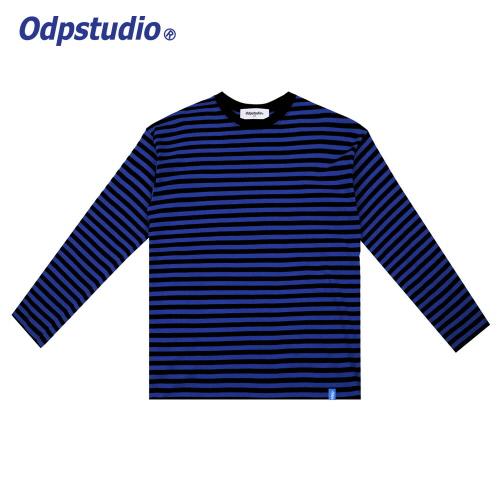 Stripe Long Sleeve T-shirts Blue