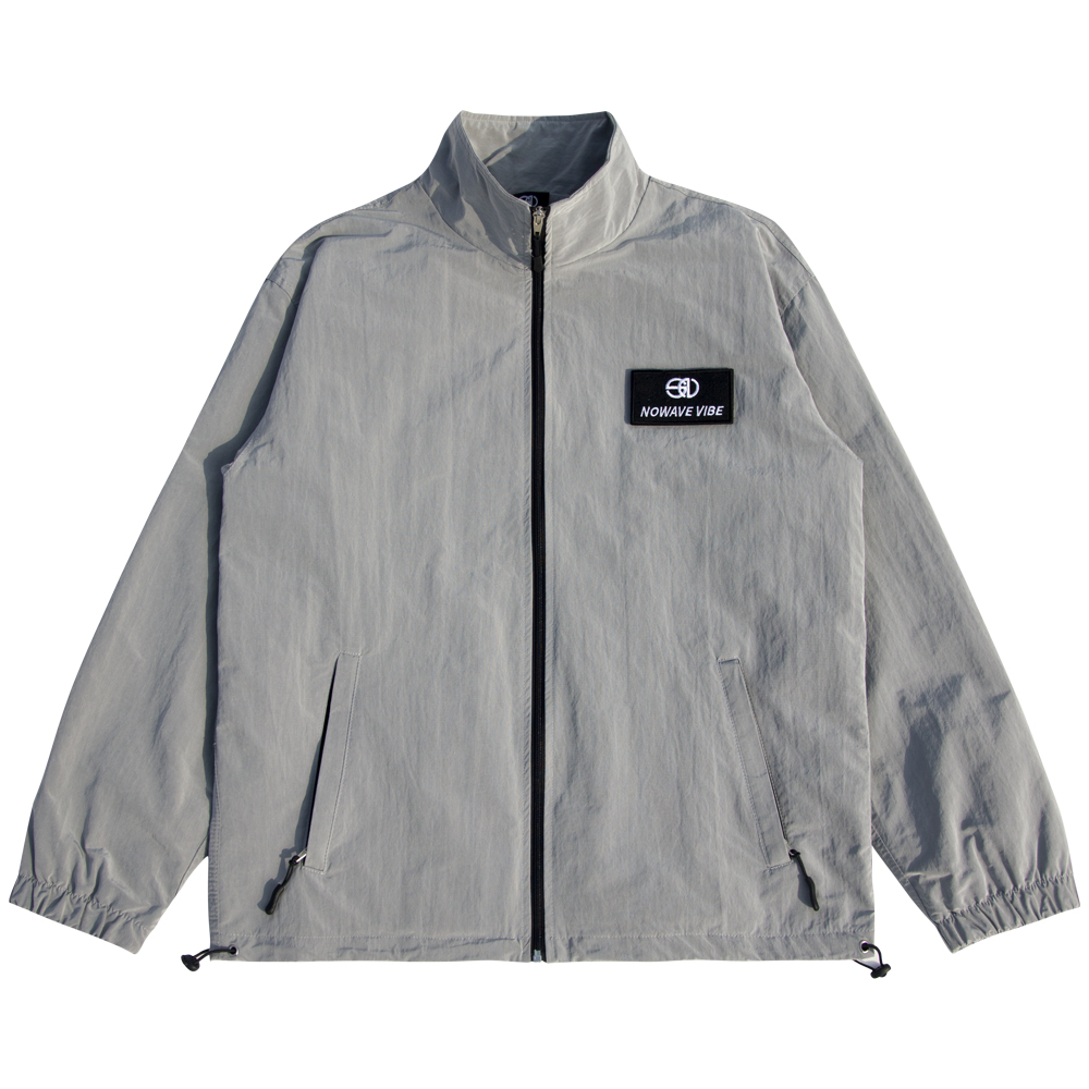 WOVEN TRACK TOP - Gray