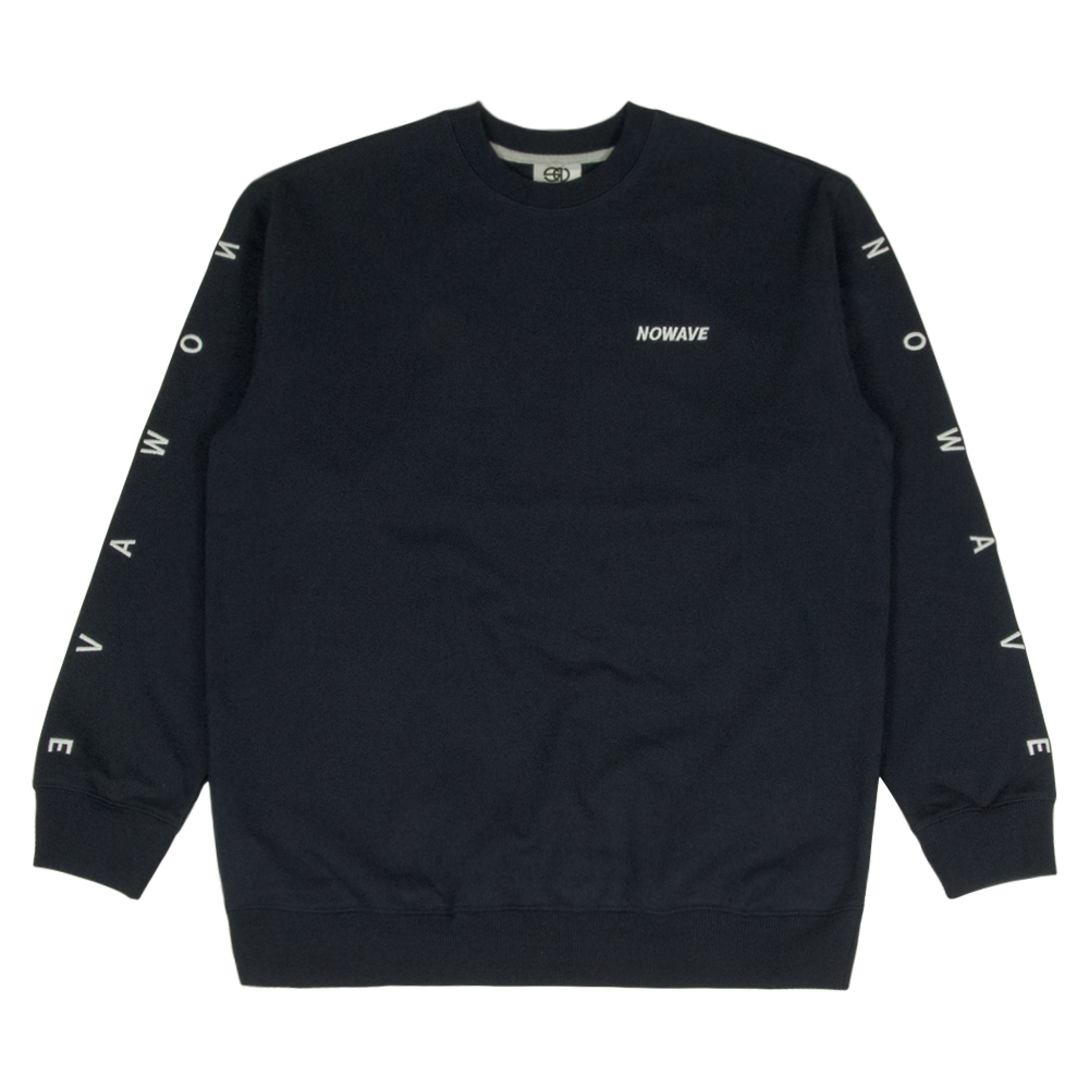 LETTERING SWEAT SHIRT - Navy