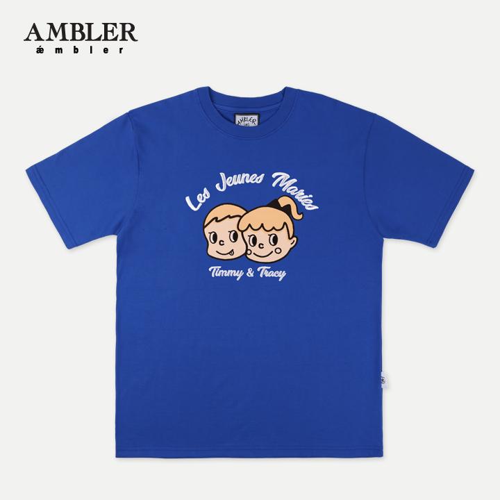 [엠블러] AMBLER 19SS 신상 반팔 티셔츠 AS631-블루
