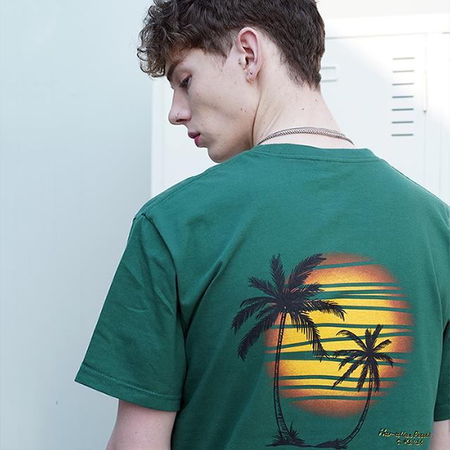 Hawaiian Paradise S/S T-Shirts(Green)