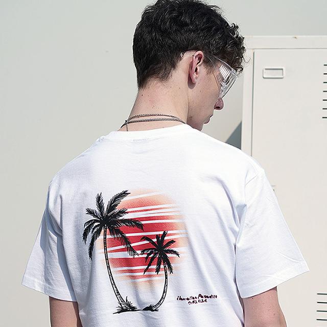Hawaiian Paradise S/S T-Shirts(White)