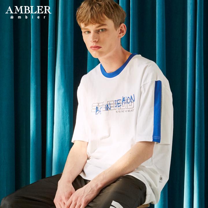 [엠블러]AMBLER 19SS 신상 반팔 티셔츠 AS626-화이트