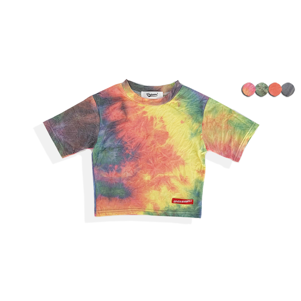 TIE-DYE CROP TOP(4color)(여성용)