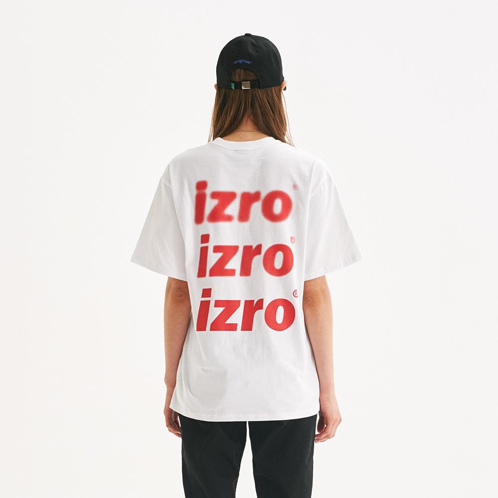 IZRO  BLUR TEE - WHITE