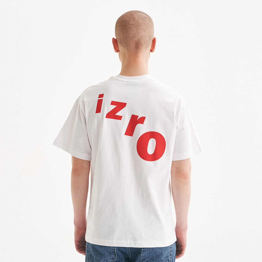 IZRO CURVE TEE - WHITE
