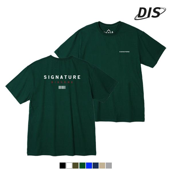 디씬 - BACK SIGNATURE - (SBS9S-308) - 나염반팔