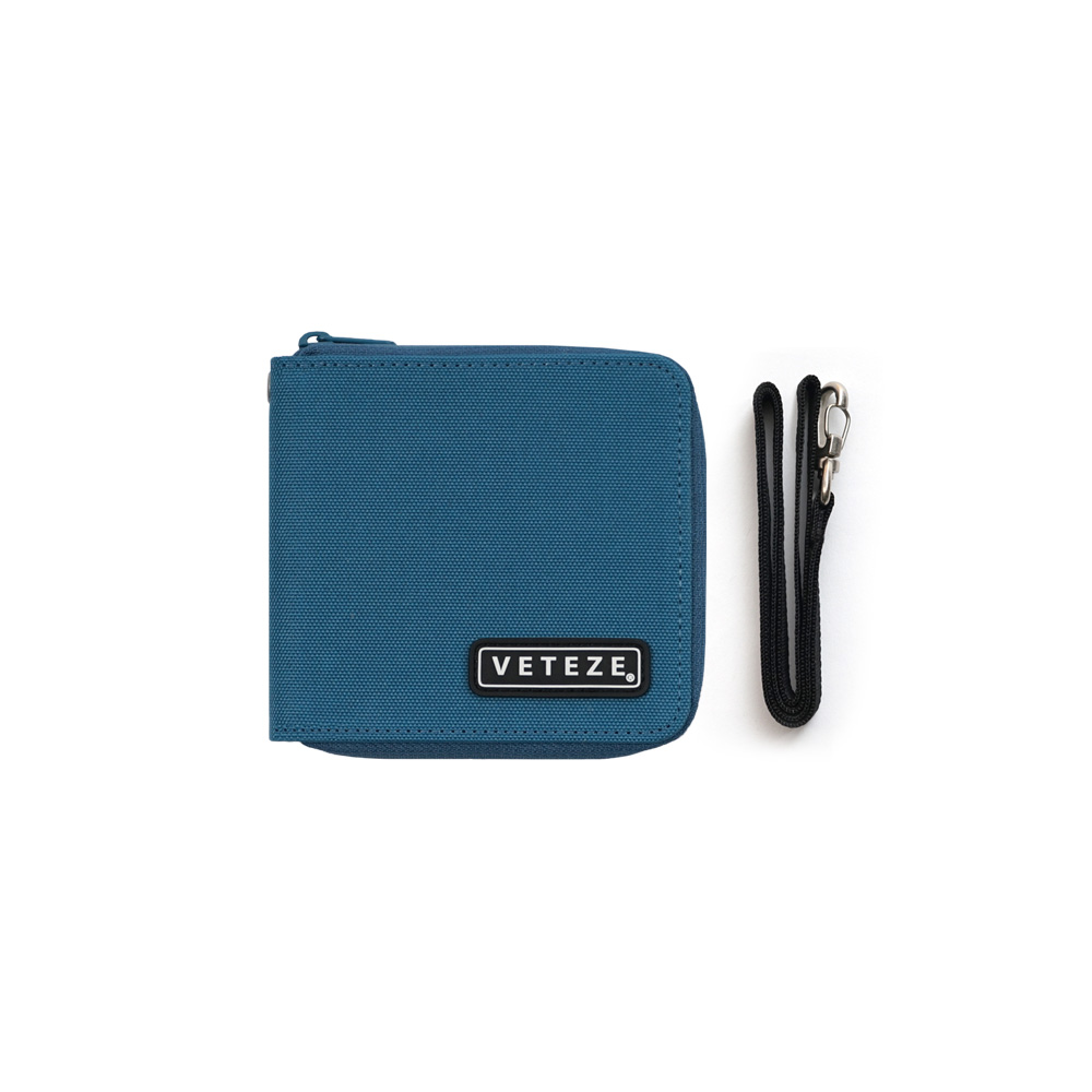 Line Half Wallet (light blue)