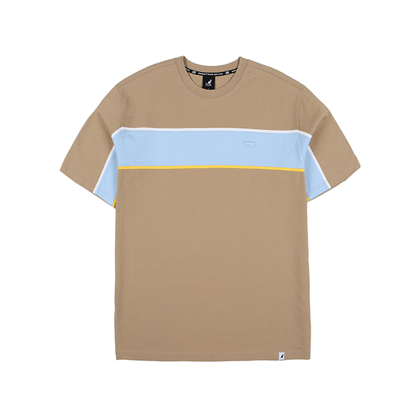 Line Taped T-Shirt 2598 BEIGE