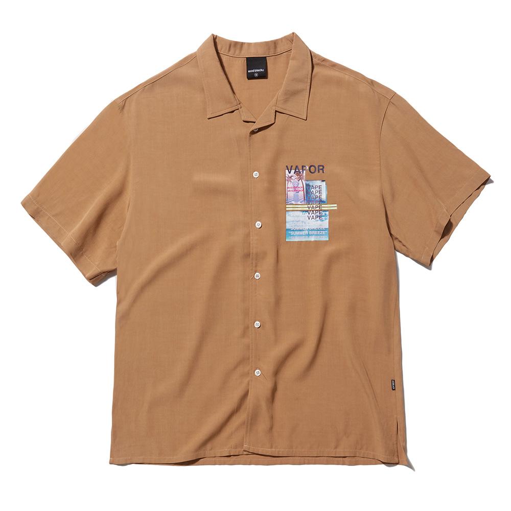 [팔찌증정]베이퍼 웨이브 셔츠 (베이지)