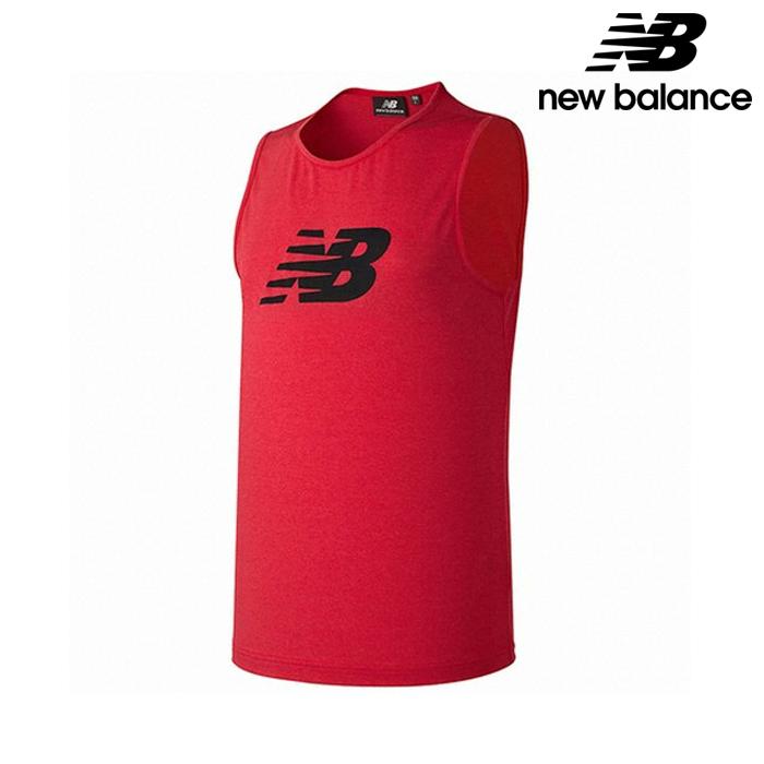 [국내배송]뉴발란스 NBNG82A741-RD 남성 기능성 쿨니트 그래픽 빅로고 싱글렛 나시티 티셔츠