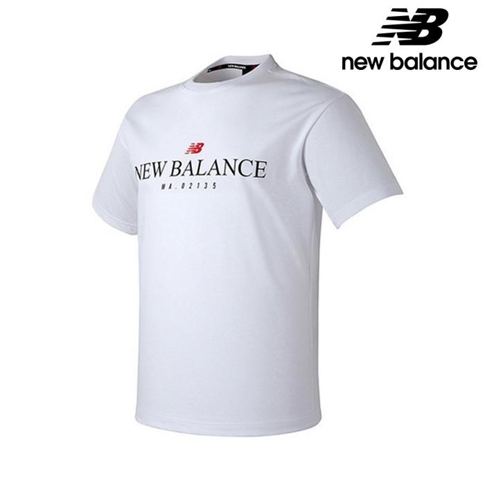 뉴발란스 NBNE82E303-WH 공용 레터링 반팔티 어반핏 티셔츠