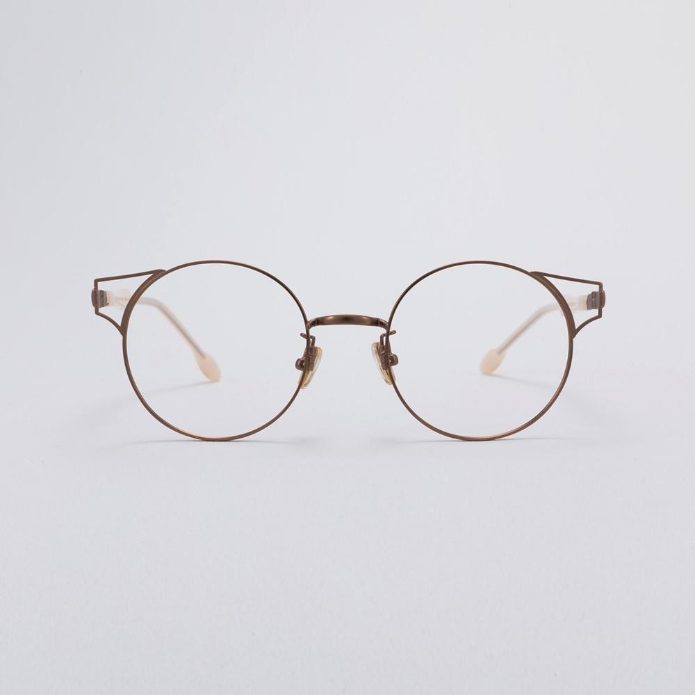 AMY antiquegold 여자 수제 클래식 동그란 레트로 명품 금테 안경테
