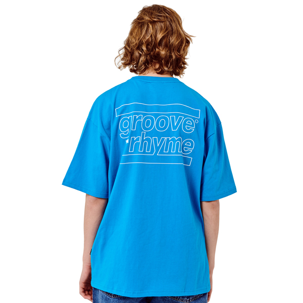BACK BIG LOGO OVER FIT T-SHIRTS (BLUE) [GTS016H23BL]