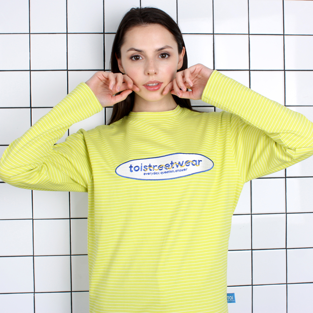 [TOi] TSW 로고 긴팔 티셔츠 옐로우