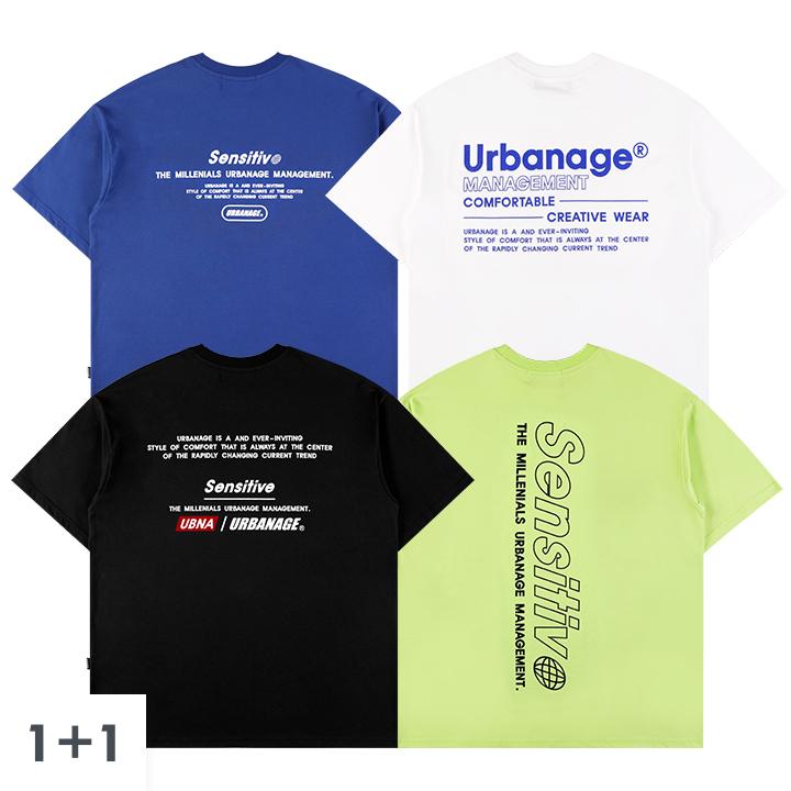 [1+1] [단독구성]아트워크 오버 반팔 티셔츠4종