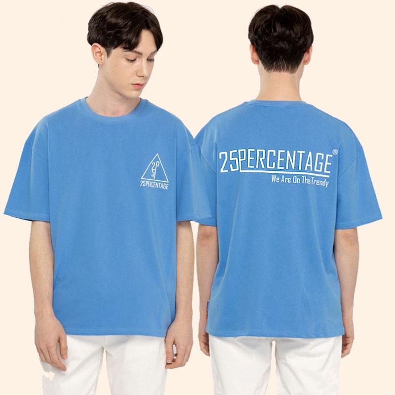 TRENDY LOGO T-SHIRT_blue [반팔 티셔츠]