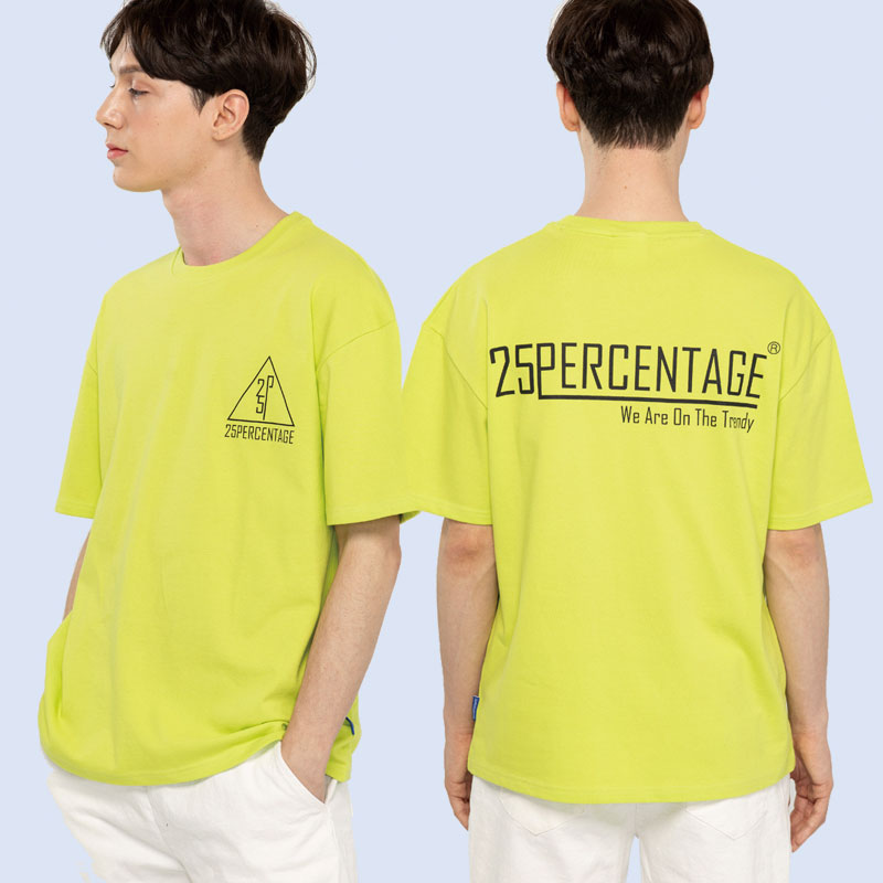 TRENDY LOGO T-SHIRT_lime [반팔 티셔츠]