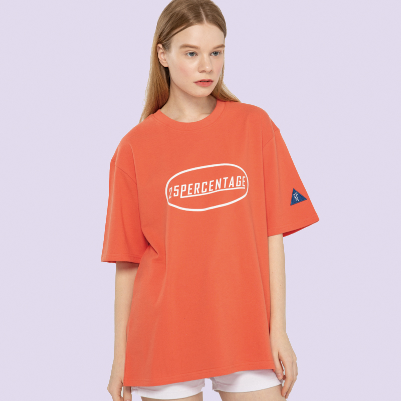 CIRCLE LOGO POINT T-SHIRT_coral [반팔 티셔츠]