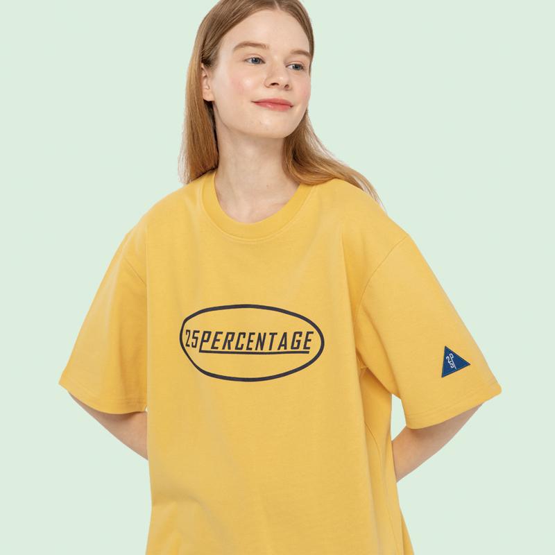 CIRCLE LOGO POINT T-SHIRT_yellow [반팔 티셔츠]