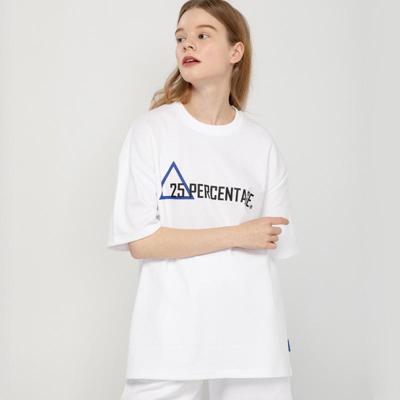 TRIANGLE LOGO T-SHIRT_white [반팔 티셔츠]