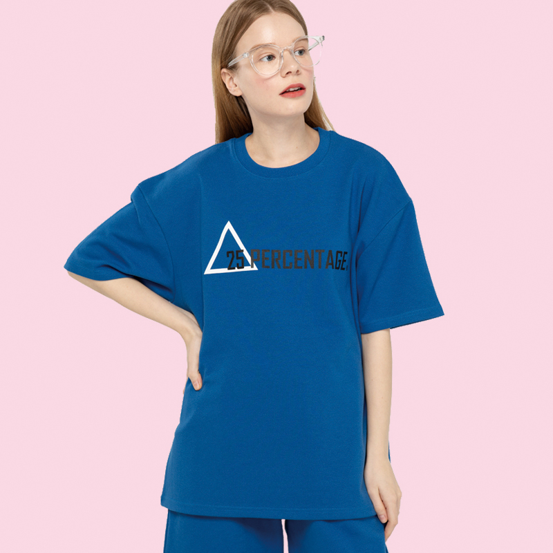 TRIANGLE LOGO T-SHIRT_blue [반팔 티셔츠]