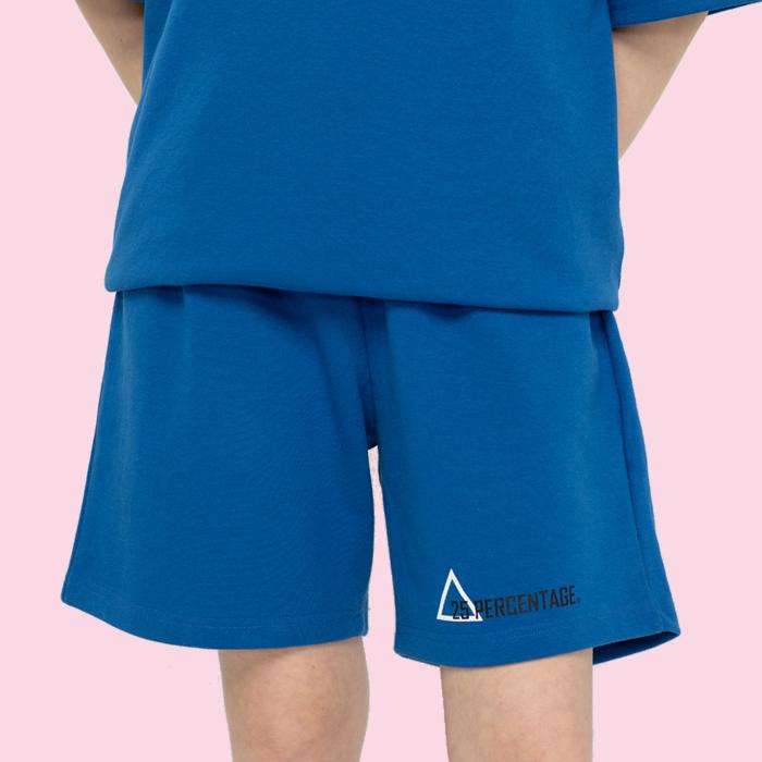 TRIANGLE LOGO HALF PANTS_blue [반바지]