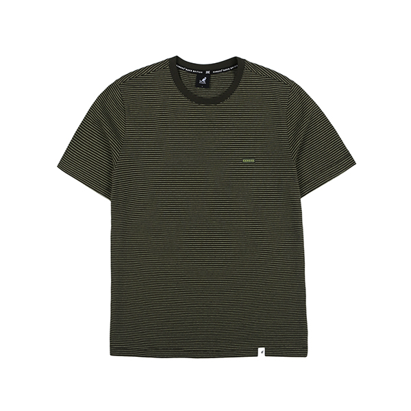 Fine Stripe T-Shirt 2587 KHAKI