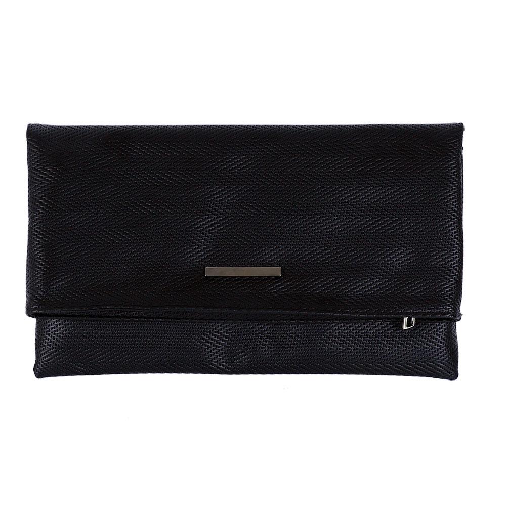 AO FOLDER CLUTCH BAG/ PATTERNED BLACK