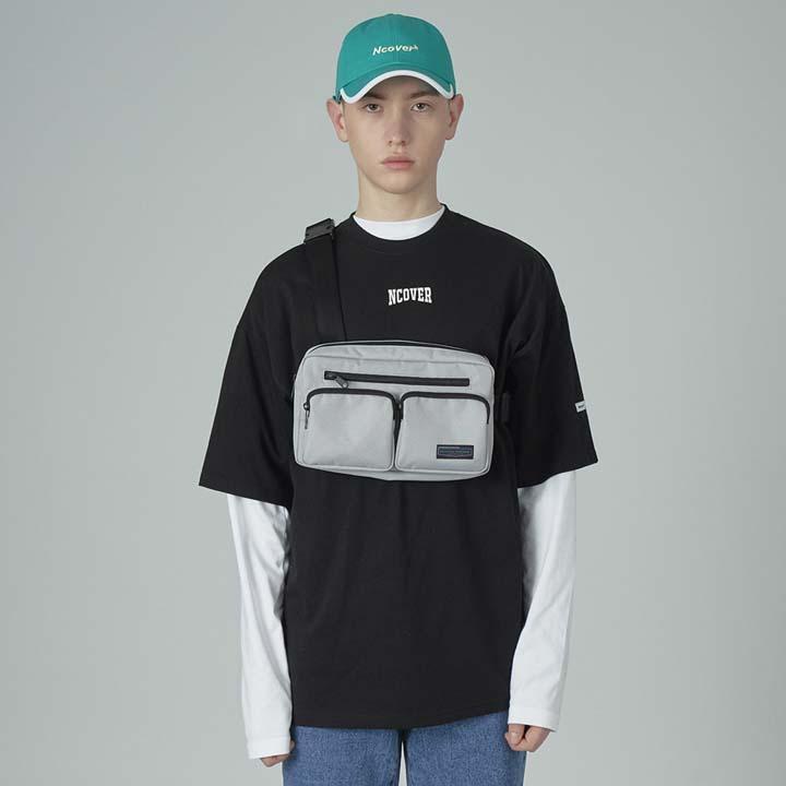 Two pocket waistbag-gray