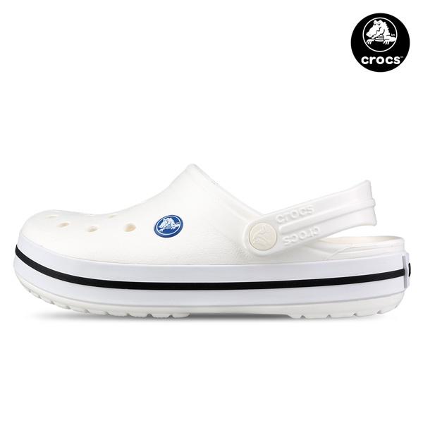 크록스 크록밴드 클로그 아쿠아슈즈 샌들 Crocband White (11016-100)