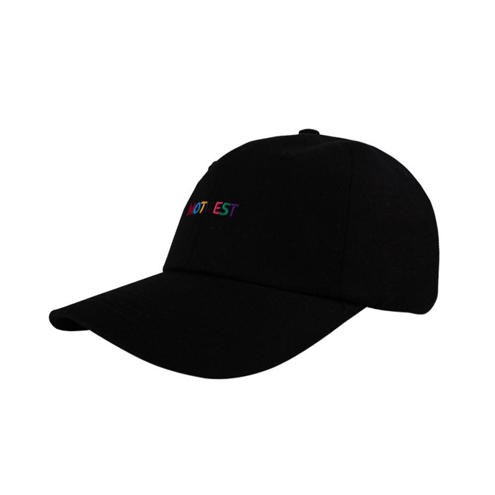 [단독할인][BTS 지민 착용][Motifest] Basic Rainbow Impact Cap (Black)