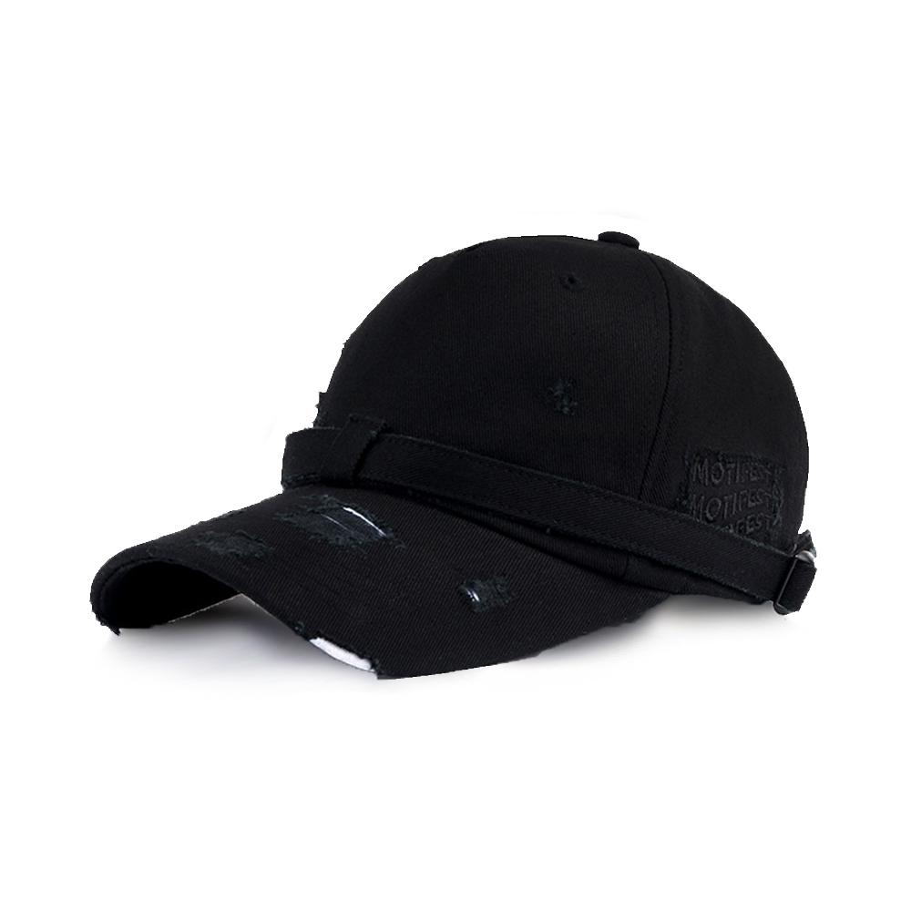 [쌈디 박재범 MXM 임영민 착용][Motifest] Garments Flag Danggi Cap Distressed Ver. (Black)