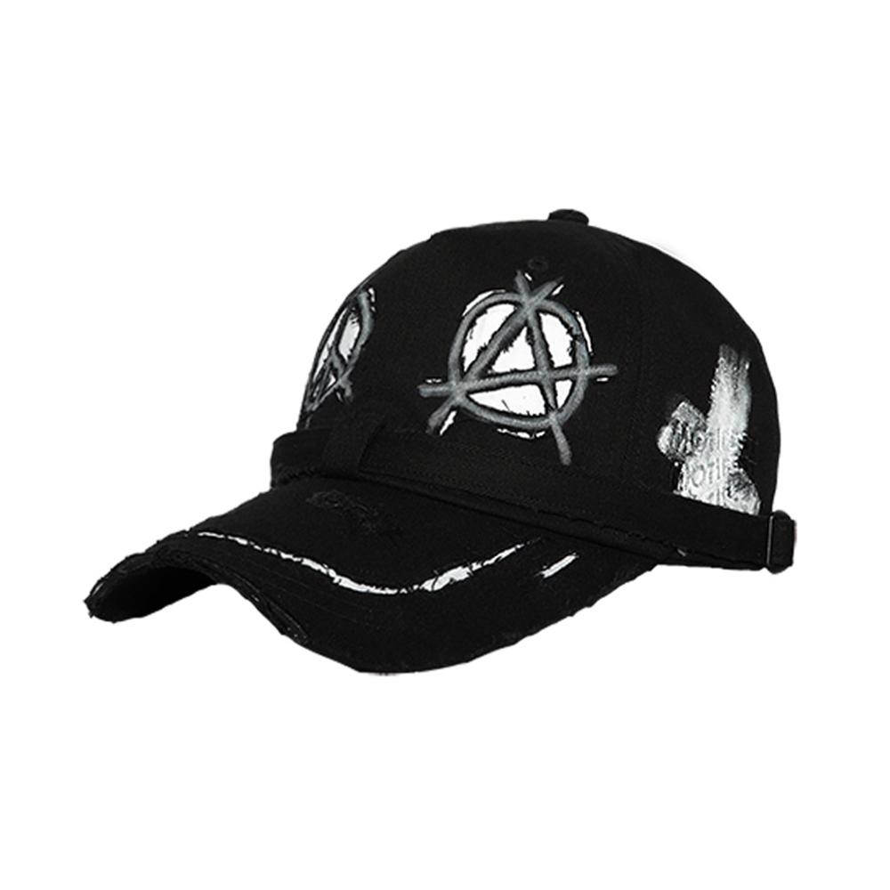 [크러쉬 착용][Motifest] Tough ITAZURA Flag Danggi Cap (Black/White)