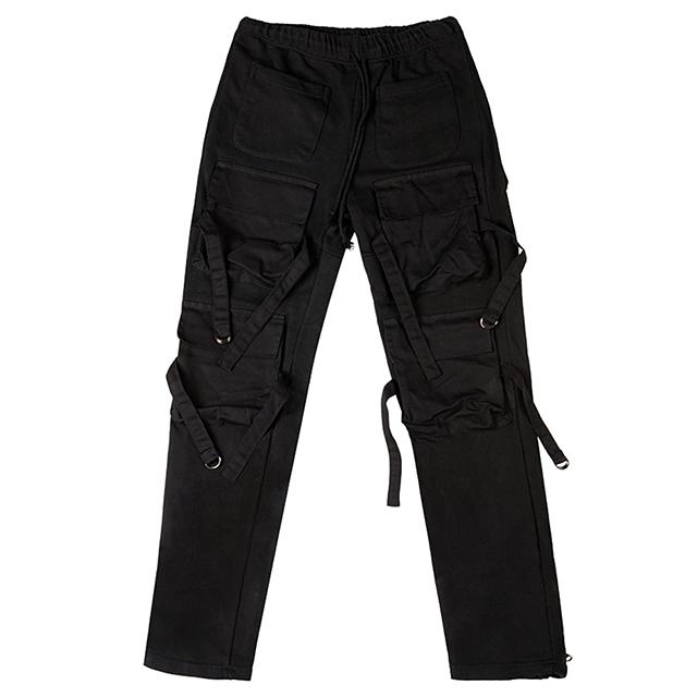 [산다라박 전소미 오케이션 착용][Motifest] 18F/W Garments Bondage Pants (Black)