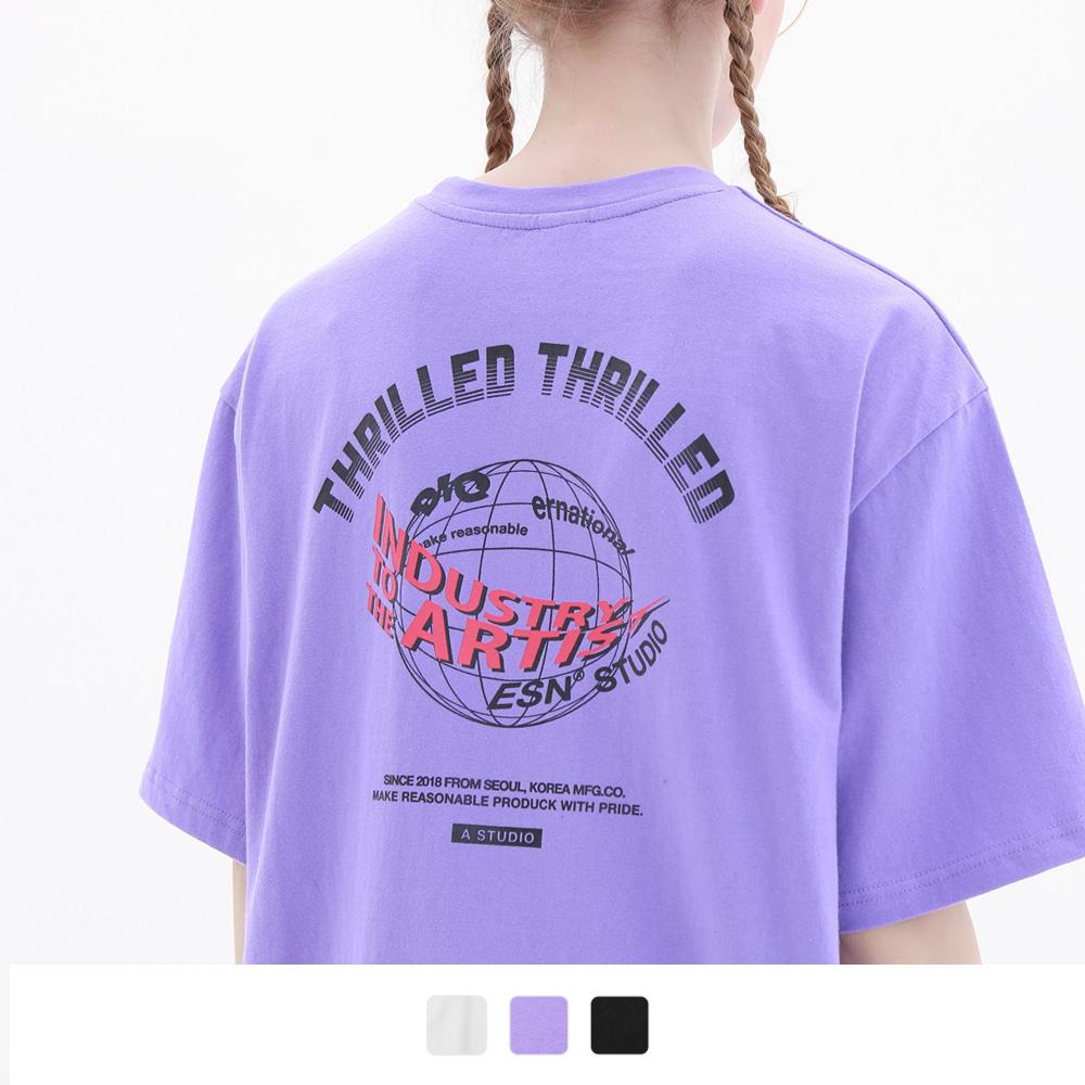 인더스트리 글롭 반팔 티셔츠 (3color)