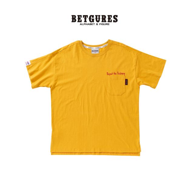 [벳규어스] 기본 포켓 남녀공용 반팔티셔츠 (S M L 노랑)