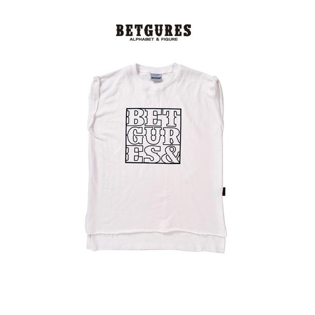 [벳규어스] 시그니처로고 남녀공용 쭈리민소매 롱 티셔츠 (M L  흰색 검정 회색)