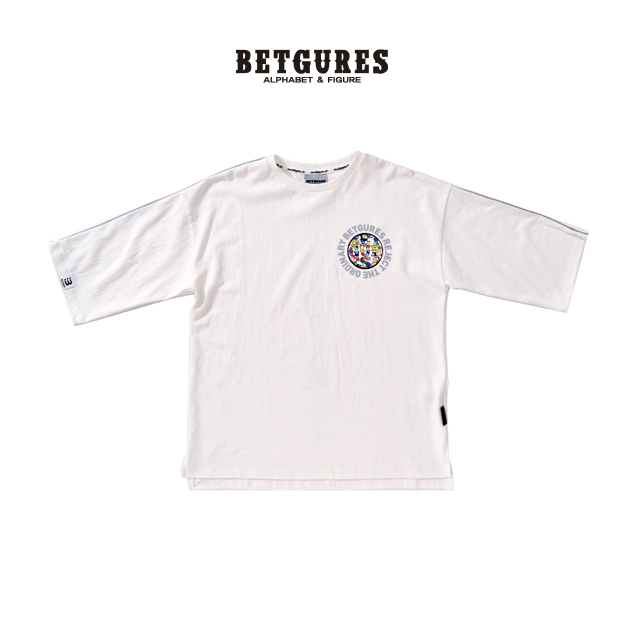 [벳규어스] 원 스카치 7부 반팔 티셔츠 (S M L 흰색)
