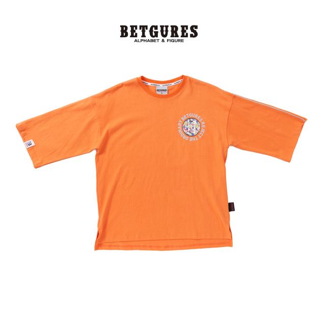 [벳규어스] 원 스카치 7부 반팔 티셔츠 (S M L 오렌지)