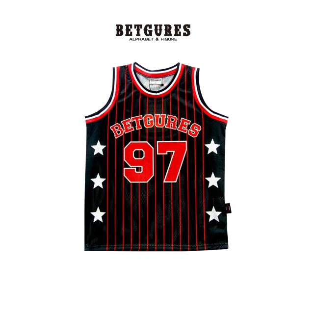 [벳규어스] 농구복 세트 민소매 티셔츠 (S L 검정)