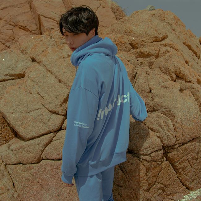 IMPFCT 집업 후디 자켓 cobalt blue