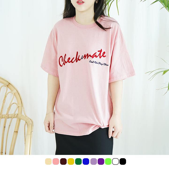 [체크메이트][자수버전]베이직 반팔 -11colors
