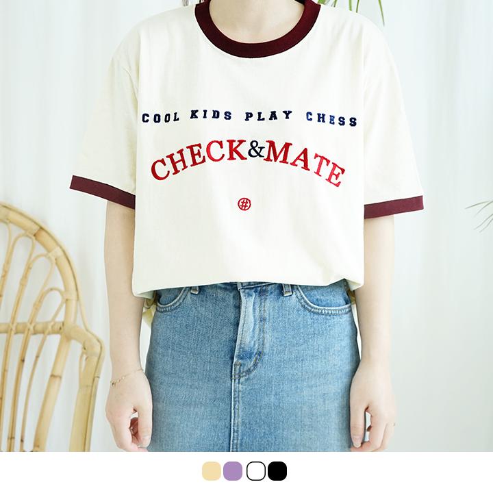 [체크메이트][자수버전] 클래식 링거티 -4colors