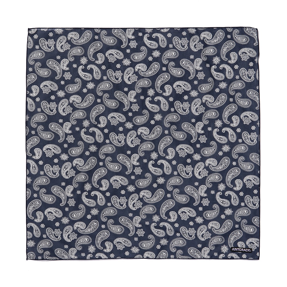 AINTCRACK 페이즐리 패턴 반다나 (블루)
